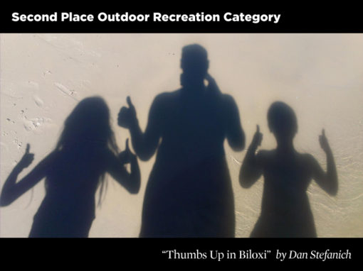 2nd Place Outdoor Recreation Category, Thumbs Up in Biloxi by Dan Stefanich