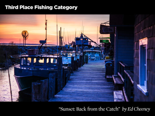 3rd Place Fishing Category, Sunset: Back From the Catch by Ed Cheeney
