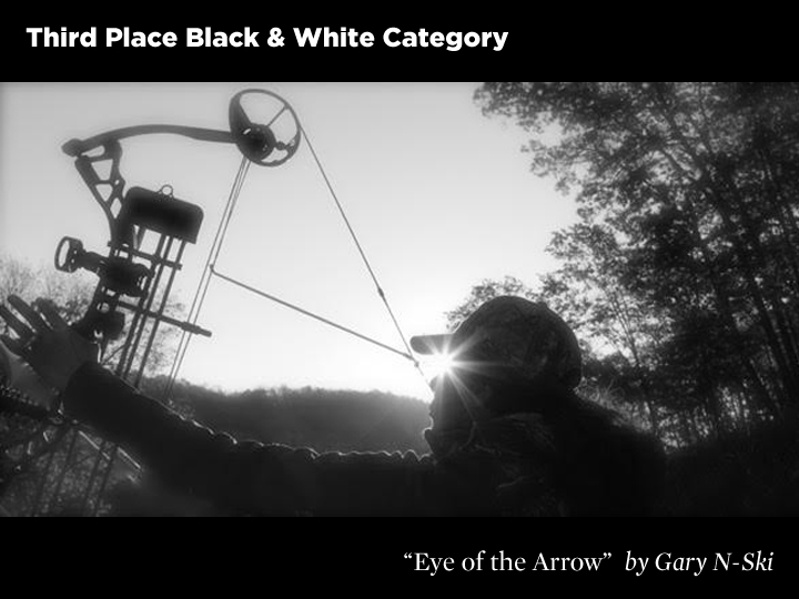 3rd Place Black & White Category, Eye of the Arrow by Gary N-Ski