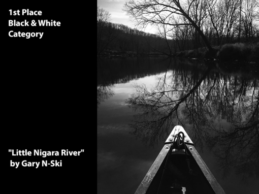 "1st Place Black & White ""Little Niagara River"" by Gary Nski"