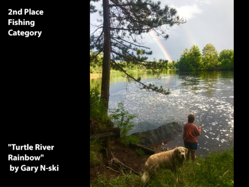 "2nd Place Fishing Category ""Turtle River Rainbow"" by Gary Nski"