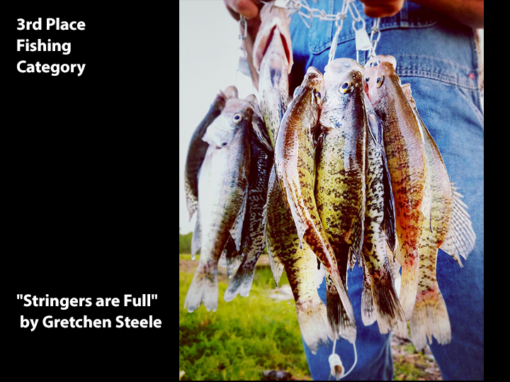 """3rd Place Fishing Category """"Stringers are Full"""" by Gretchen Steele"""