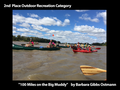 """2nd Place Outdoor Recreation """"100 Miles on the Big Muddy"""" by Barbara Gibbs Ostmann"""