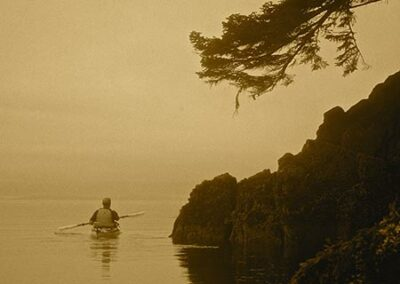 """Kayaker-Shoreline at Dawn"""